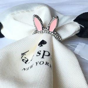 Kate spade bunny earring